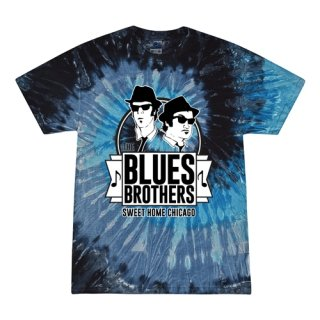 Small Batch The Blues Brothers Sweet Home Chicago Tie-Dye T-Shirt / Deep Blue