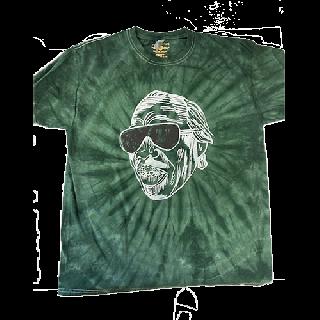 Professor Longhair Mardi Gras Tie-Dye T-Shirt / Faith Green