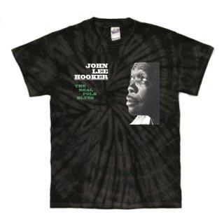 John Lee Hooker 『The Real Folk Blues』 Jacket T Shirts - Tie-Dye Spider Black