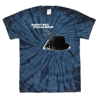 Sonny Boy Williamson � 『The Real Folk Blues』 Jacket T Shirts - Tie-Dye Spider Navy