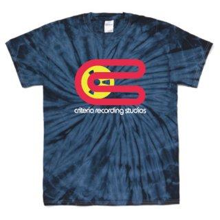 Criterial Studio logo T Shirts - Tie-Dye Spider Navy