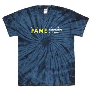 Fame Studio logo T Shirts - Tie-Dye Spider Navy