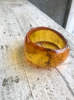Vintage Asymmetric Lucite Bangle