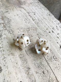 Vintage Mother of Pearl Beaded Earring