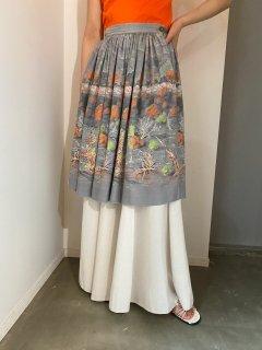 Vintage 50s Novelty Cotton Skirt
