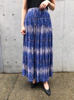 Vintage Blue Indian Skirt