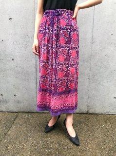 Vintage Purple Indian Skirt