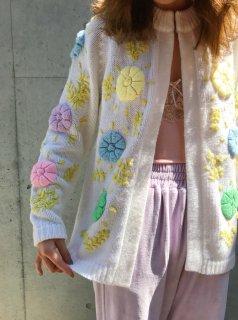 Vintage 60s Floral Cardigan