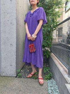 Vintage 70s Cotton Gauze Dress