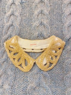 Vintage 50s Faux Pearl Collar