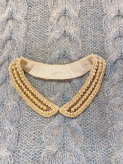 Vintage 40s~50s Faux Pearl Collar