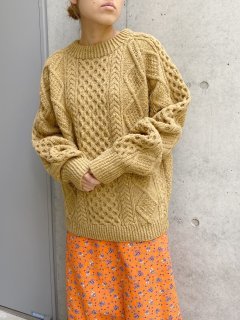Vintage Light Brown Fisherman's Sweater