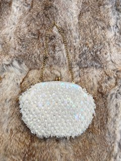 Vintage Clear Beaded Purse