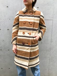 <img class='new_mark_img1' src='https://img.shop-pro.jp/img/new/icons24.gif' style='border:none;display:inline;margin:0px;padding:0px;width:auto;' />(20%off) Vintage Brown Border Coat ¥19,800→¥15,840