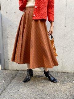 Vintage Wool Circuler Skirt