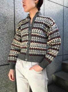 Vintage Nordic Gray Cardigan
