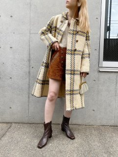 <img class='new_mark_img1' src='https://img.shop-pro.jp/img/new/icons24.gif' style='border:none;display:inline;margin:0px;padding:0px;width:auto;' />(20%off) Vintage Check Pattern Coat ¥17,800→¥14,240