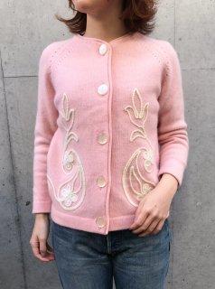 1960's Pink Floral Cardigan