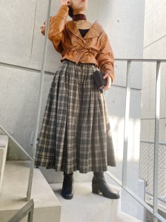 <img class='new_mark_img1' src='https://img.shop-pro.jp/img/new/icons24.gif' style='border:none;display:inline;margin:0px;padding:0px;width:auto;' />(30%off) Lady's Check Design Skirt ¥8,000→¥5,600