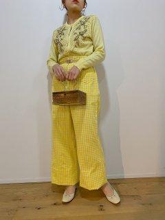1970's Yellow Checkered Pants