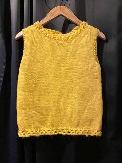 Vintage Yellow Knit Vest