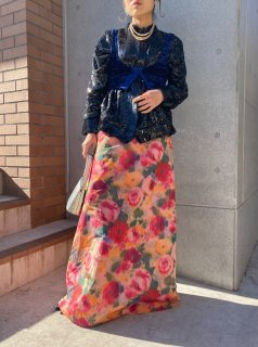 <img class='new_mark_img1' src='https://img.shop-pro.jp/img/new/icons14.gif' style='border:none;display:inline;margin:0px;padding:0px;width:auto;' />Lady's Flower Design Long Skirt