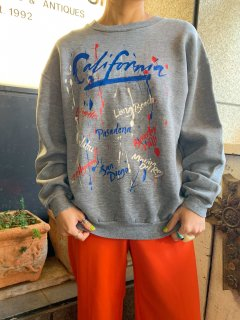 <img class='new_mark_img1' src='https://img.shop-pro.jp/img/new/icons14.gif' style='border:none;display:inline;margin:0px;padding:0px;width:auto;' />Vintage Paint Pattern Sweatshirt