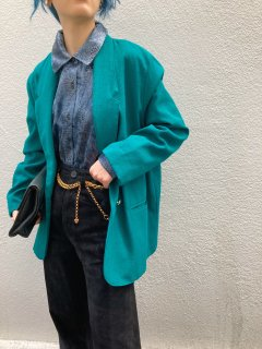 <img class='new_mark_img1' src='https://img.shop-pro.jp/img/new/icons14.gif' style='border:none;display:inline;margin:0px;padding:0px;width:auto;' />Lady's Green Tailored Jacket
