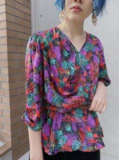 1980s Vintage Textiles Blouse