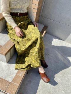1970s Vintage Paisley Maxi Skirt
