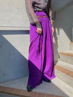 Lady's Purple Wide Pants