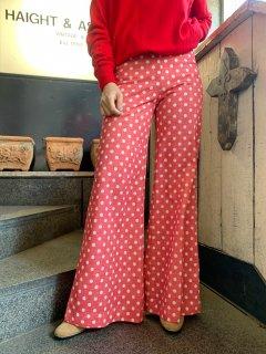 Vintage Dot Pattern Flared Pants