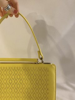 1950's Lemon Yellow Handle Bag