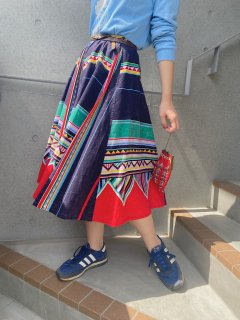 Vintage Ethnic Pattern Skirt