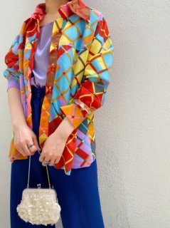 Vintage Vivid Color Plaid Shirt