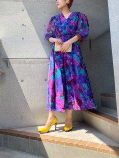 Lady's Flower Design Dress