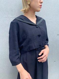 <img class='new_mark_img1' src='https://img.shop-pro.jp/img/new/icons50.gif' style='border:none;display:inline;margin:0px;padding:0px;width:auto;' />1950's Black Dress / Jacket 2pc