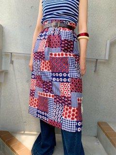 1960s~1970s Vintage Printed Skirt