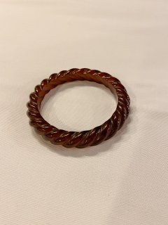 Vintage Clear Twisted Bangle