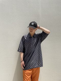 90s~ STREET CULTURE Zip-up Polo-shirt
