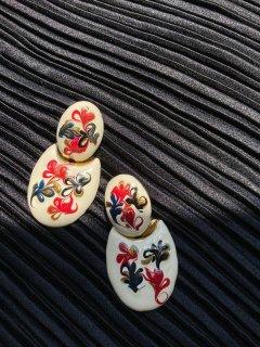 Lady's Paint Design Earrings