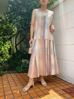 (50%off) Lady's Stripe Design One-piece ¥6,000 → ¥3,000