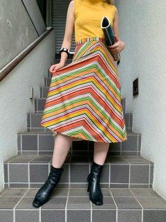Vintage Multicolor Striped Skirt