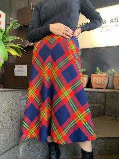 Vintage Plaid Pattern Skirt