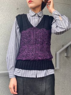 <img class='new_mark_img1' src='https://img.shop-pro.jp/img/new/icons24.gif' style='border:none;display:inline;margin:0px;padding:0px;width:auto;' />(30%OFF) Lady's Purple Knit Vest ¥5,800→¥4,060