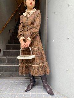 Vintage Paisley Pattern Dress