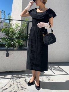 1950s Vintage Black Dress