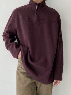 PERRY ELLIS Half Zip-up Design Top