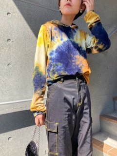 Lady's Tie Dye Pattern Hoodie