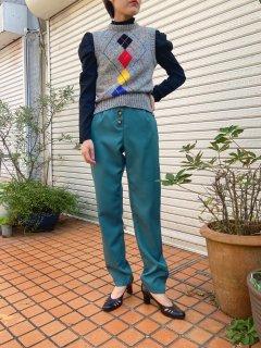 Lady's Argyle Pattern Knit Vest